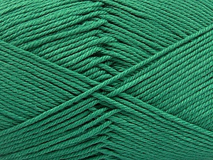 Baby cotton is a 100% premium giza cotton yarn exclusively made as a baby yarn. It is anti-bacterial and machine washable! Fiber Content 100% Giza Cotton, Brand ICE, Emerald Green, Yarn Thickness 3 Light  DK, Light, Worsted, fnt2-53069