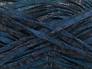 Fiber Content 82% Viscose, 18% Polyester, Brand ICE, Blue, Anthracite Black, Yarn Thickness 5 Bulky  Chunky, Craft, Rug, fnt2-55009