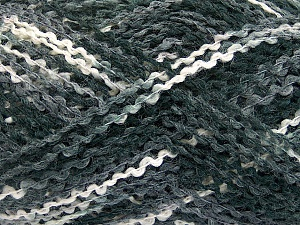 Fiber Content 60% Acrylic, 40% Wool, White, Brand ICE, Grey, Black, fnt2-55766
