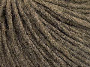 Fiber Content 50% Wool, 50% Acrylic, Brand ICE, Dark Camel, Yarn Thickness 4 Medium  Worsted, Afghan, Aran, fnt2-57007