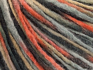 Fiber Content 50% Acrylic, 50% Wool, Brand ICE, Grey Shades, Copper, Camel, fnt2-59316