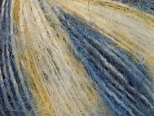 Fiber Content 40% Polyamide, 35% Acrylic, 25% Wool, Yellow, White, Brand ICE, Blue Shades, fnt2-59491