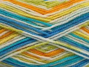 Fiber Content 100% Acrylic, White, Turquoise, Brand ICE, Green, Gold, Blue, fnt2-59729