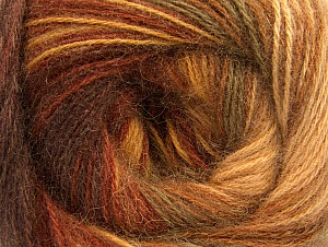 Fiber Content 60% Acrylic, 20% Wool, 20% Angora, Brand ICE, Brown Shades, fnt2-59747