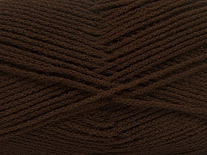 Fiber Content 100% Acrylic, Brand ICE, Dark Brown, Yarn Thickness 3 Light  DK, Light, Worsted, fnt2-39100