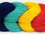 Fiber Content 50% Acrylic, 50% Cotton, Salmon, Navy, Brand ICE, Emerald Dark Green Yellow, Yarn Thickness 3 Light  DK, Light, Worsted, fnt2-60269